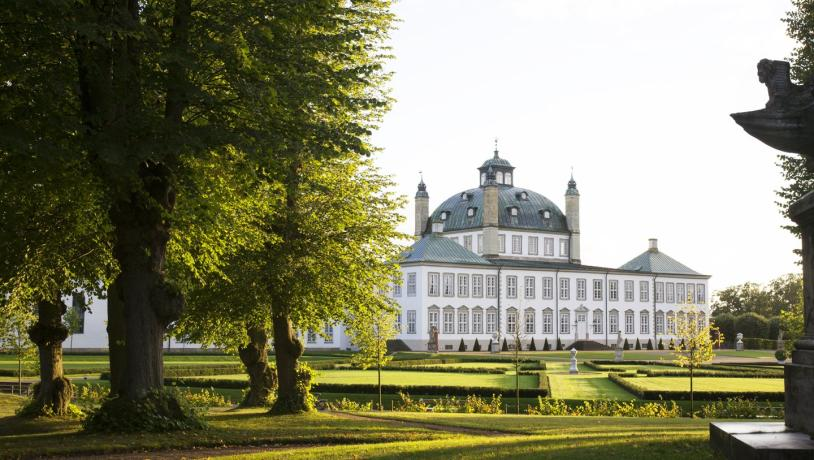 Fredensborg Palace located north of Copenhagen