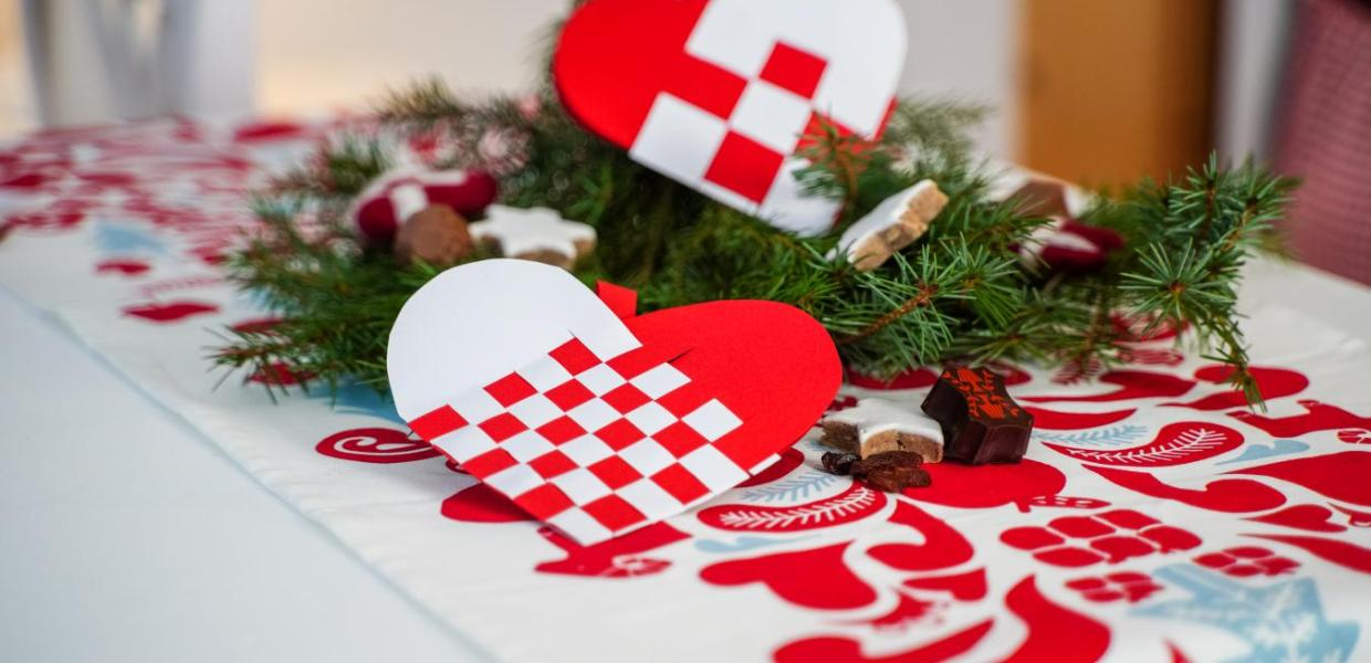 Traditional Danish Christmas decorations, the Christmas heart